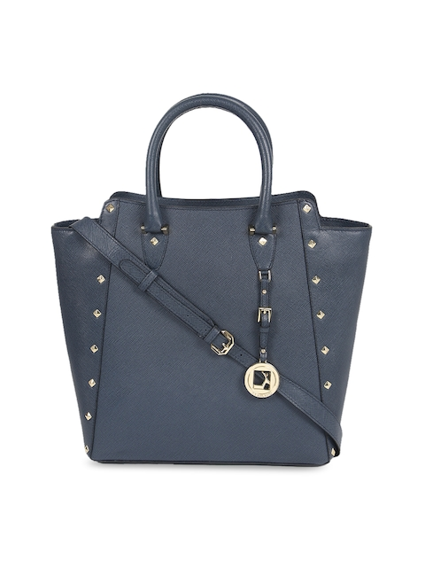 Da Milano Blue Solid Handheld Bag