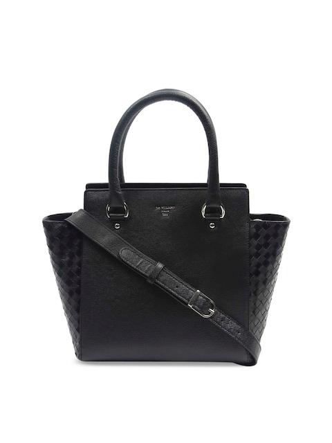 Da Milano Black Solid Handheld Bag