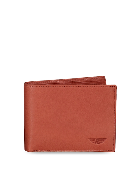 Red Tape Men Tan Brown Solid Leather Two Fold Wallet