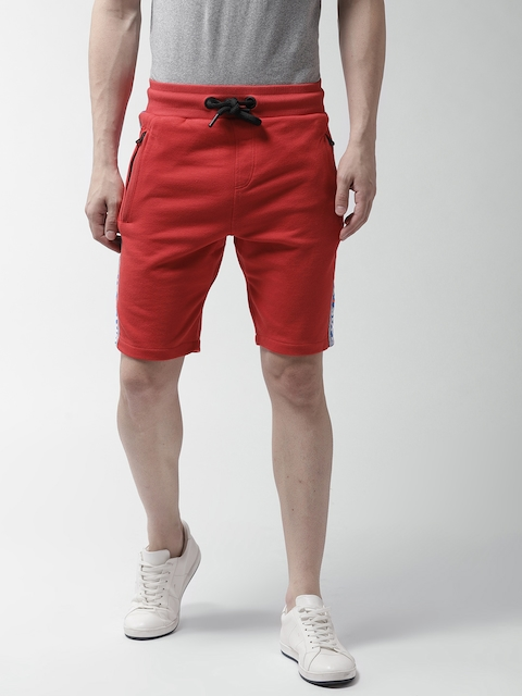 Superdry Men Red Solid Regular Fit Casual Shorts