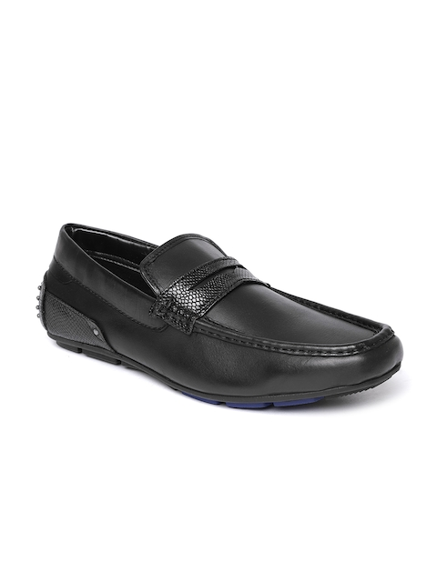 Bata Men Black Driving Shoes