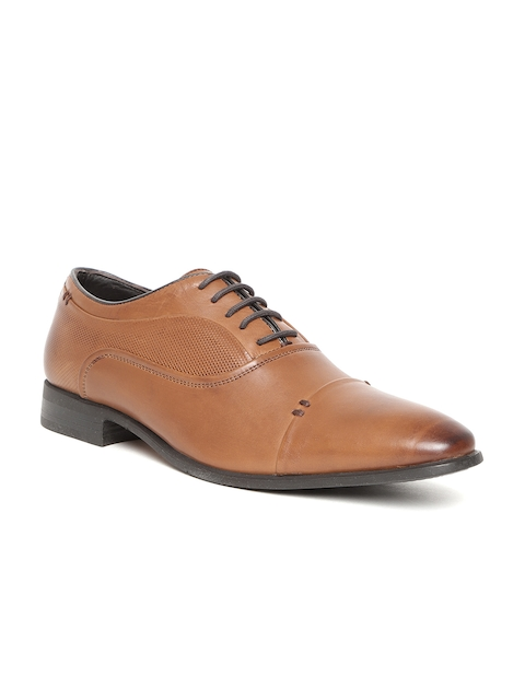 Hush Puppies Men Tan Brown Formal Leather Oxfords