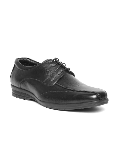 Bata Men Black Leather Formal Derbys