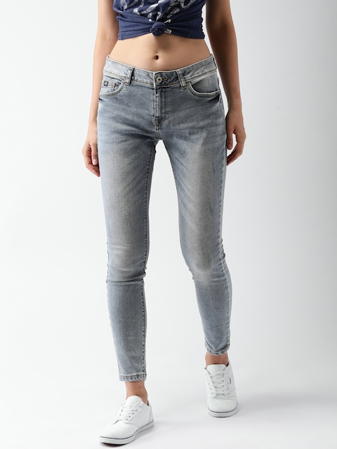 Superdry Women Blue Skinny Fit Mid-Rise Clean Look Stretchable Jeans