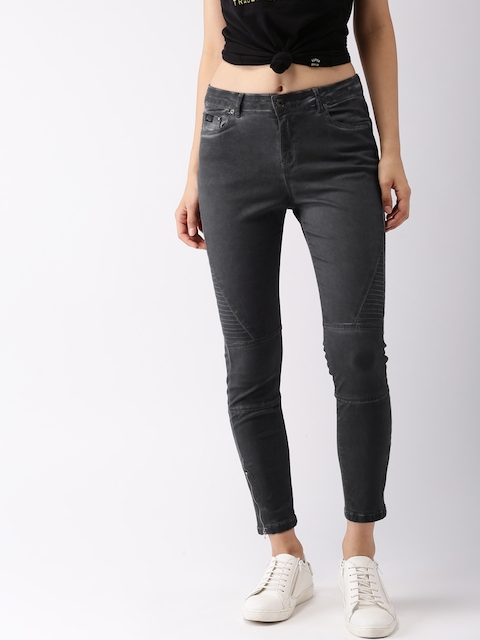 Superdry Women Grey Skinny Fit Mid-Rise Clean Look Stretchable Jeans