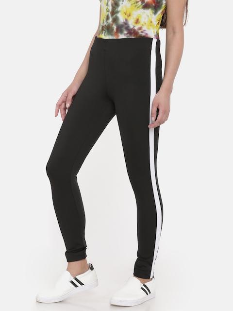 Go Colors Women Black Solid Ankle-Length Jeggings