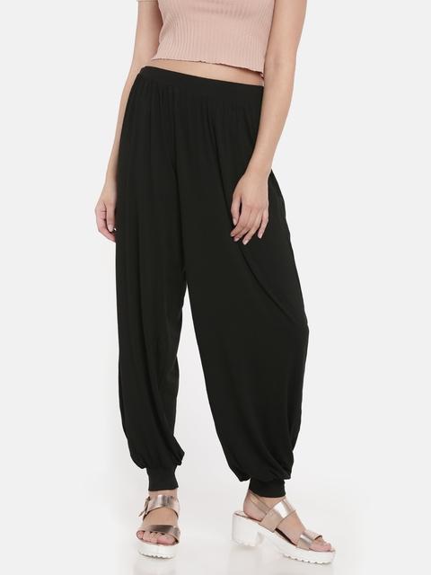 Go Colors Women Black Harem Pants