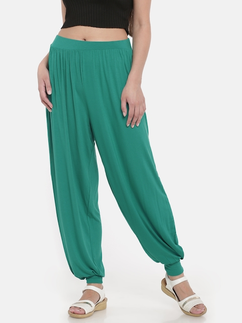 Go Colors Women Green Harem Pants