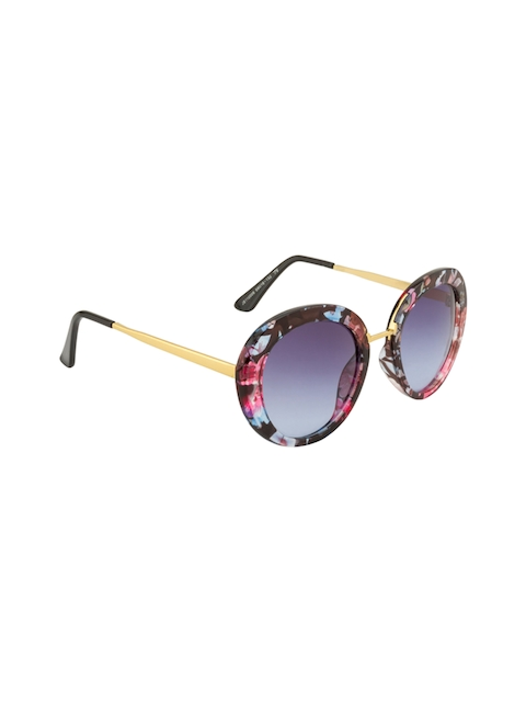Ted Smith Women Oval Sunglasses TS110006 FLORL