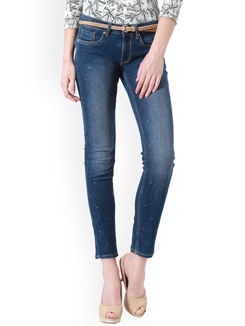 Allen Solly Woman Women Blue Slim Fit Mid-Rise Clean Look Stretchable Jeans