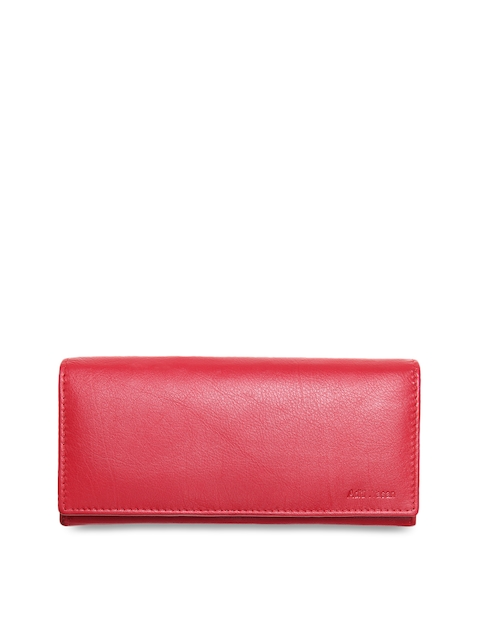 Aditi Wasan Women Pink Solid Two Fold Leather Wallet