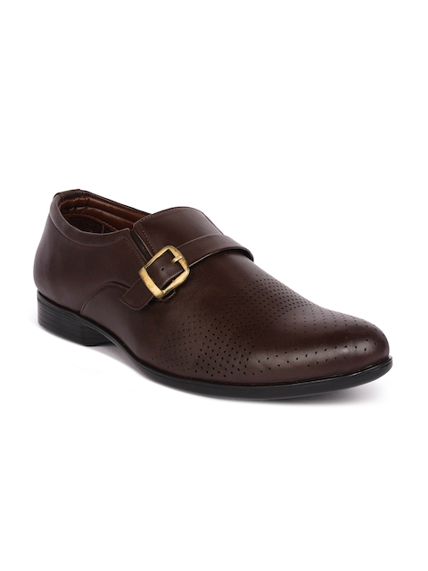 Action Men Brown Formal Monk Shoes