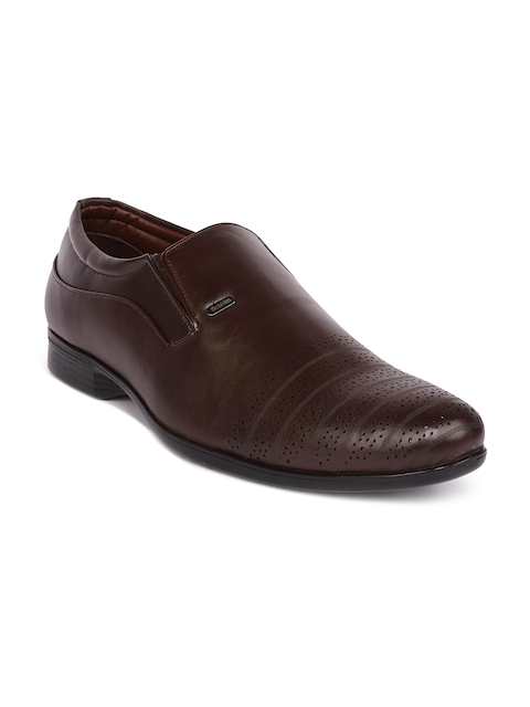 Action Men Brown Semi-Formal Slip-On Shoes