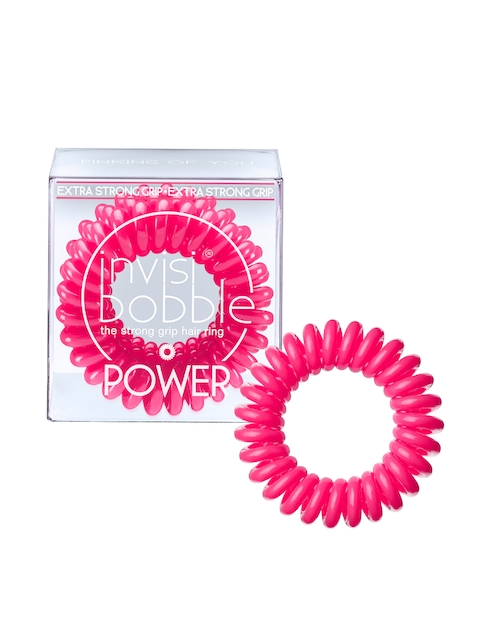 Invisibobble Pink Set Of 3 Power Pinking of You Ponytail Holders