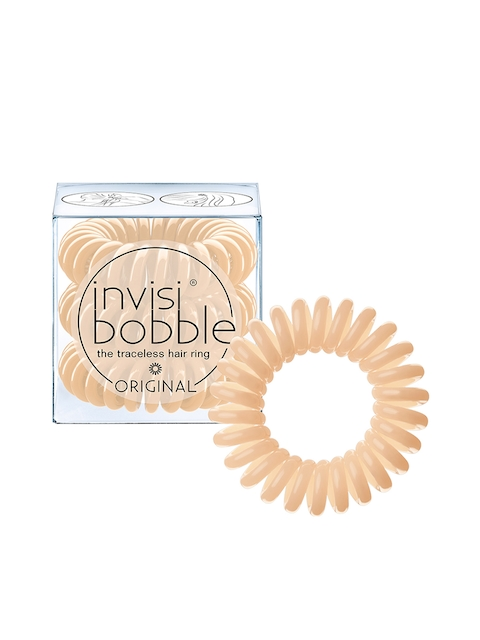 Invisibobble Unisex Set of 3 Beige To Be Or Nude to Be Ponytail Holders