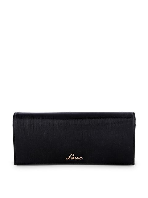 Lavie Women Black Solid Two Fold Wallet