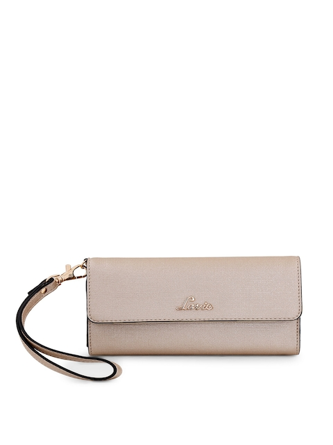 Lavie Women Beige Solid Two Fold Wallet