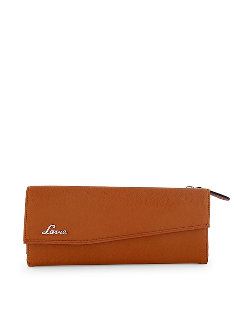 Lavie Women Tan Solid Two Fold Wallet