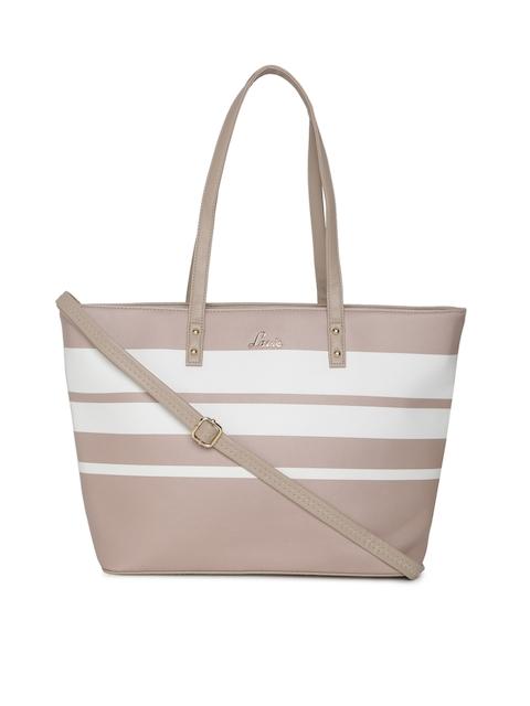 Lavie Beige & White Striped Bag