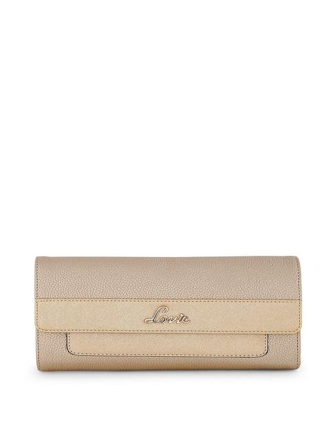 Lavie Women Gold-Toned Solid Two Fold Wallet