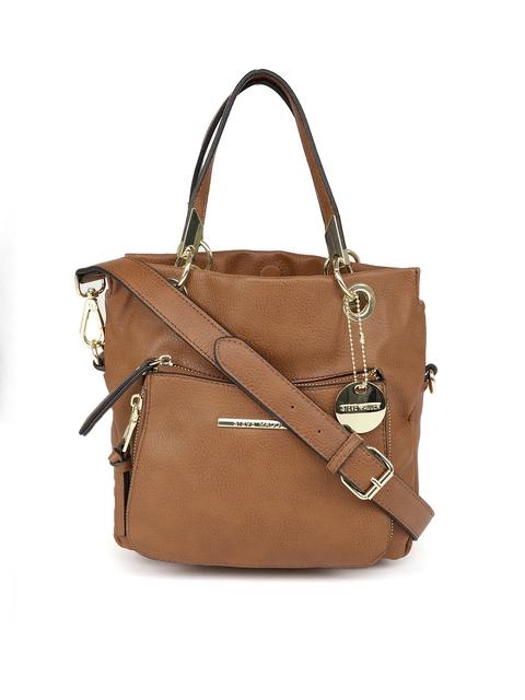Steve Madden Brown Textured Handheld Bag