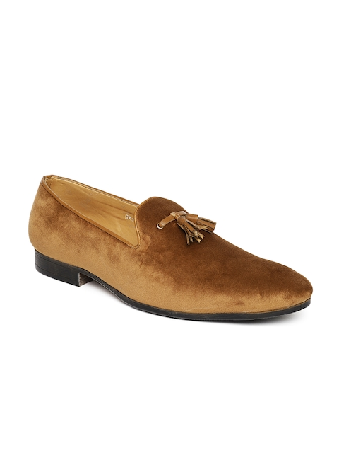 San Frissco Men Tan Suede Tassel Loafers