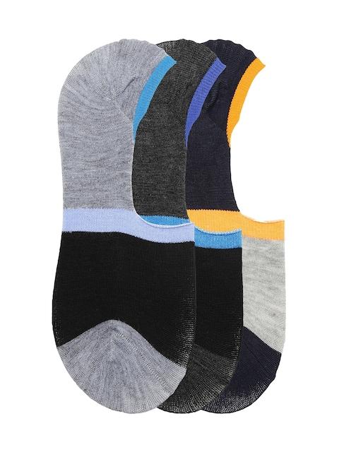 Alvaro Castanino Men Pack of 3 Colourblocked Shoeliners