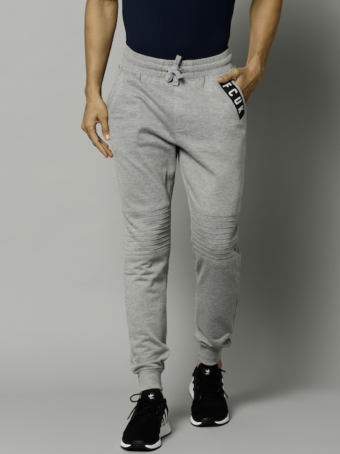 French Connection Men Grey Melange Solid Joggers