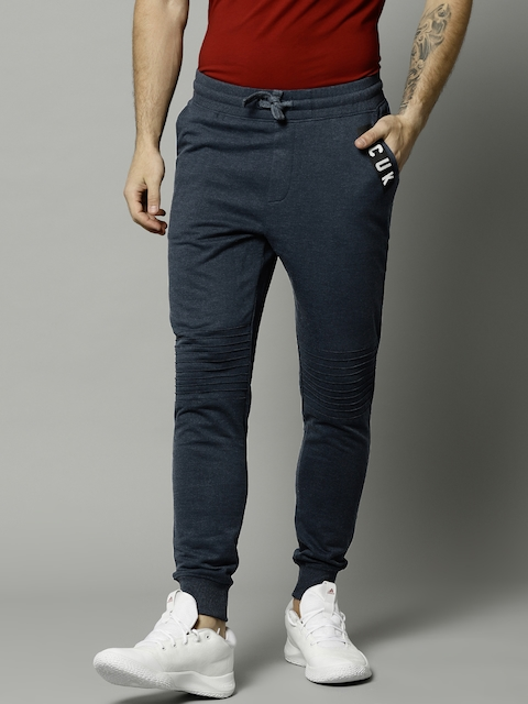 French Connection Men Navy Blue Solid Joggers
