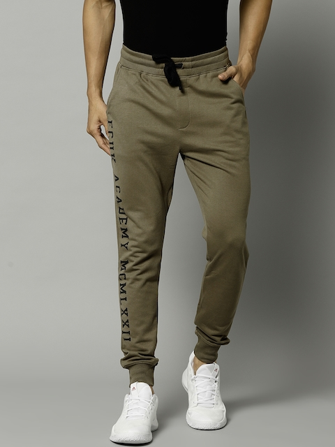 French Connection Olive Green Solid Joggers