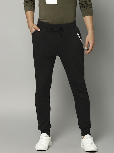 French Connection Men Black Solid Joggers