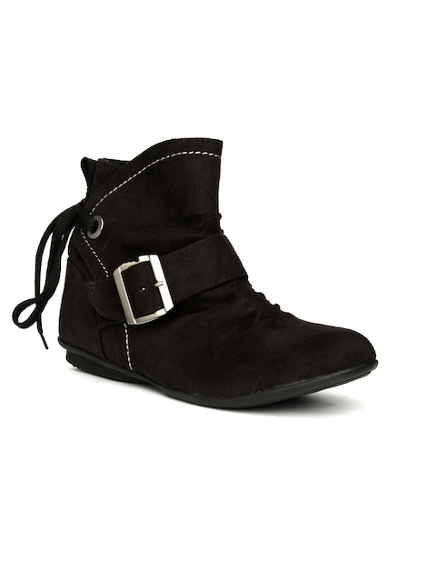Bruno Manetti Women Black Flat Boots