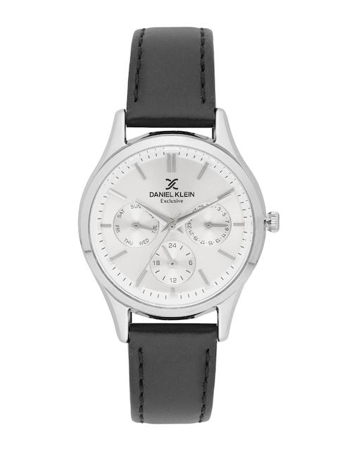 Daniel Klein Exclusive Women Silver-Toned Multifunction Watch DK11773-1