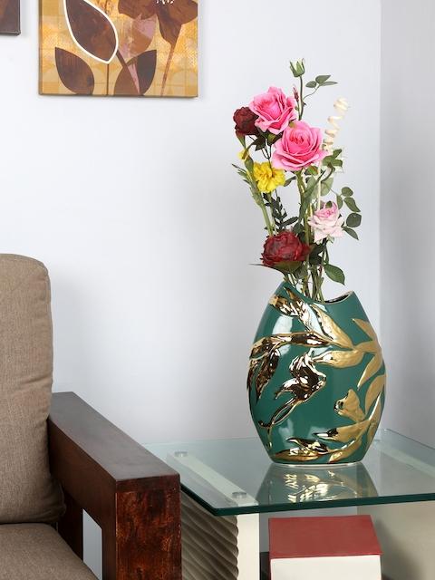Athome by Nilkamal Green Textured Vase