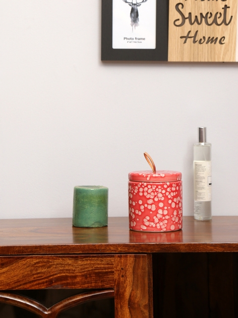 Athome by Nilkamal Unisex Red Candle Holder