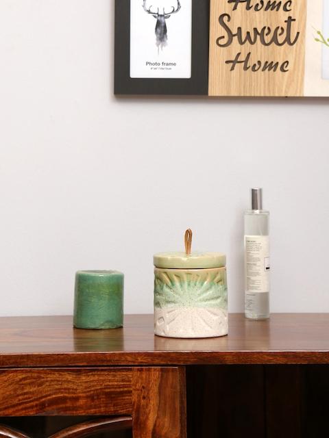 Athome by Nilkamal Unisex Green Candle Holder