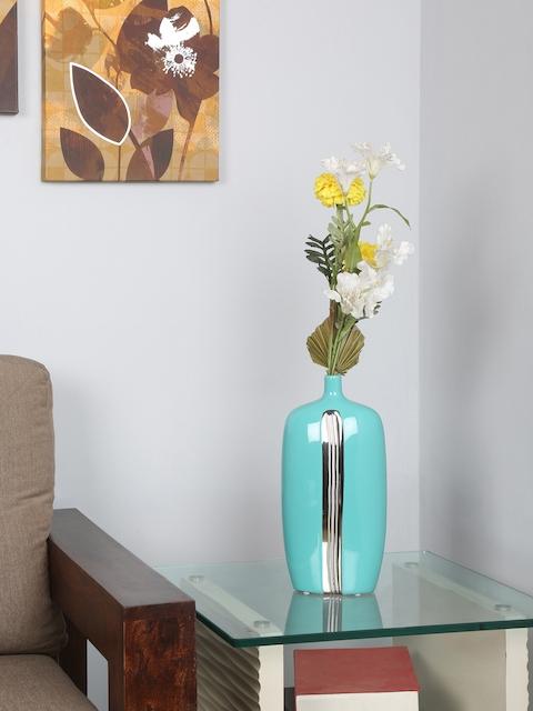 Athome by Nilkamal Sea Green Solid Vase