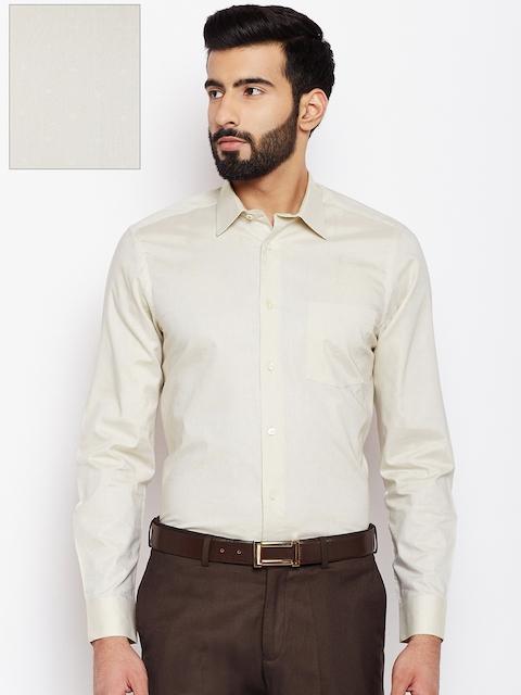 09ecbee7 45%off Blackberrys Men Beige Slim Fit Self Design Formal Shirt