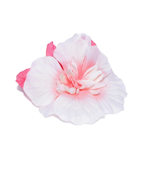 Accessorize Pink & Off-White Floral Alligator Hair Clip