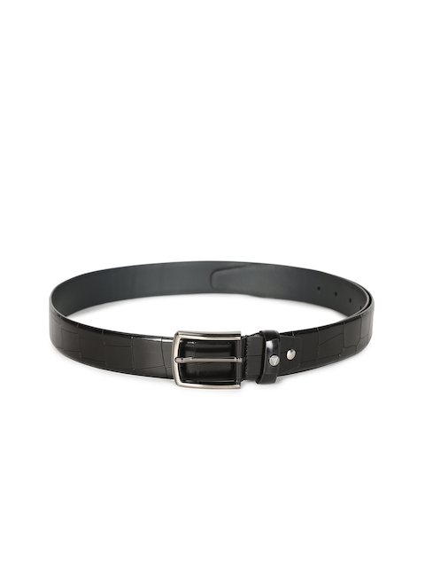 Van Heusen Men Black Textured Belt