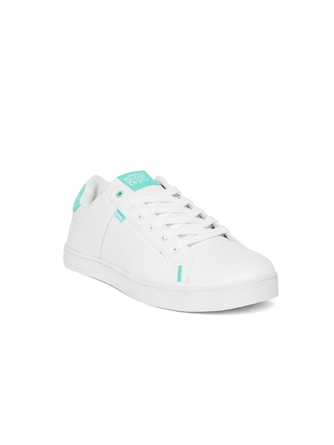 Superdry Women White Tennis Shoes