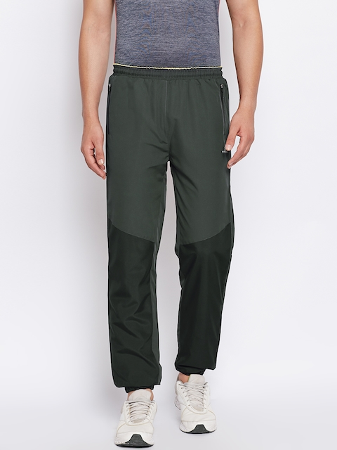 Monte Carlo Men Charcoal Grey & Black Colourblocked Joggers