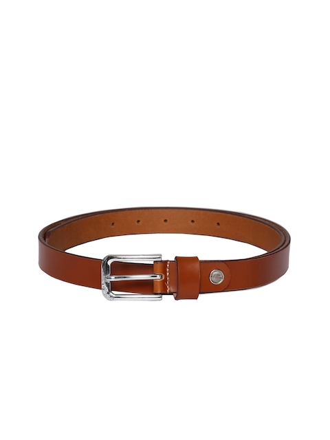 CHISEL Women Tan Solid Leather Belt