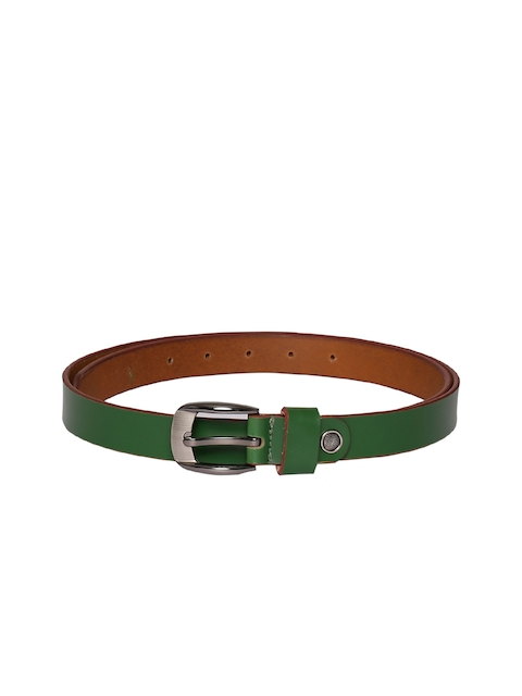 CHISEL Women Green Solid Leather Belt