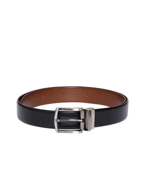 CHISEL Men Black & Brown Solid Leather Reversible Belt