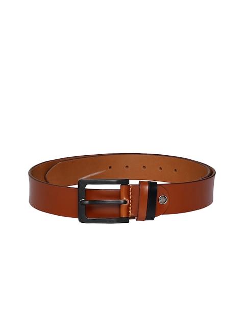 CHISEL Men Tan Solid Leather Belt