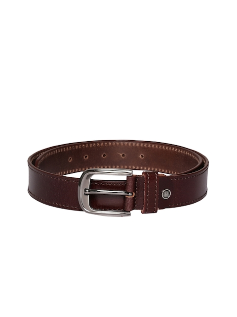 CHISEL Men Brown Solid Leather Belt