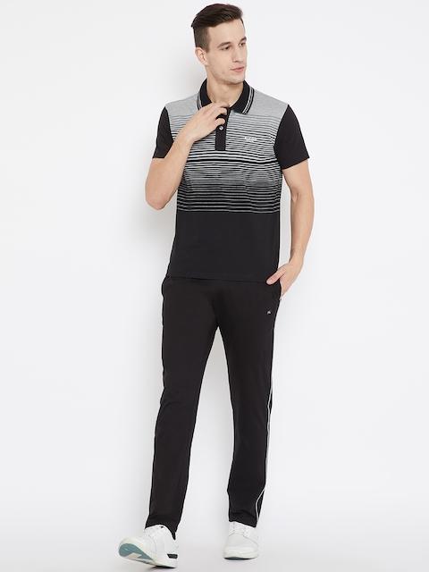 Monte Carlo Black & Grey Melange Striped Tracksuits
