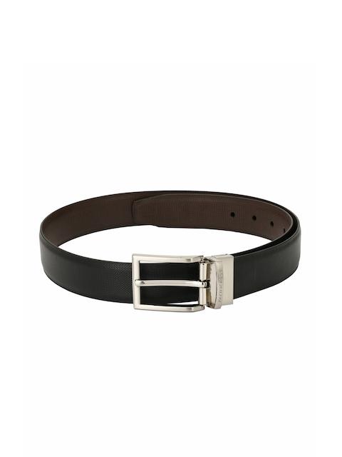 Pacific Gold Men Black & Brown Reversible Solid Belt