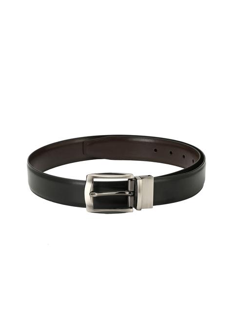 Pacific Gold Men Black & Brown Solid Reversible Belt
